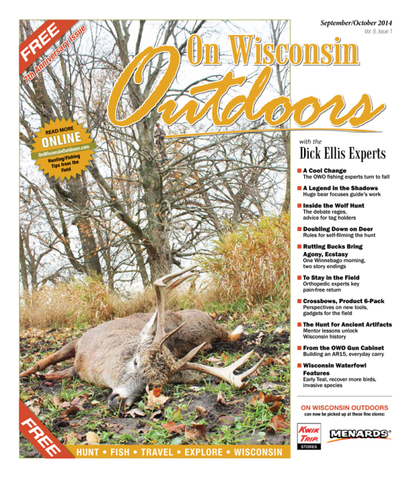 2014 Sept/Oct cover On Wisconsin Outdoors