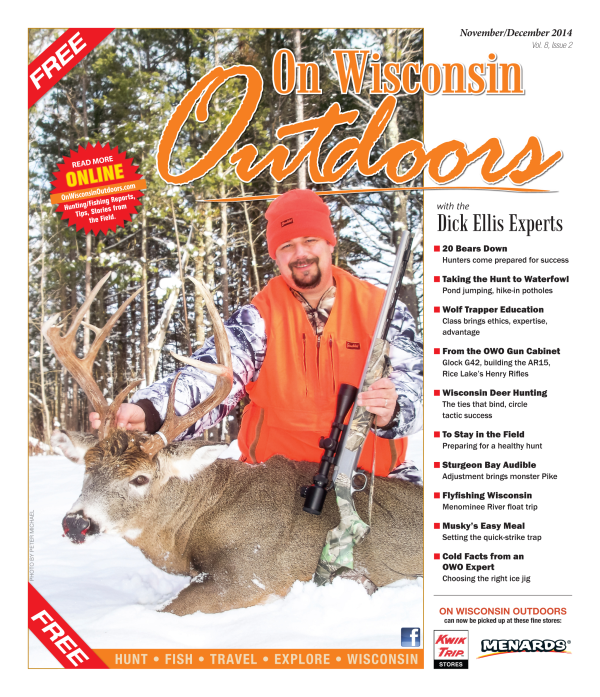 2014 Nov/Dec cover On Wisconsin Outdoors