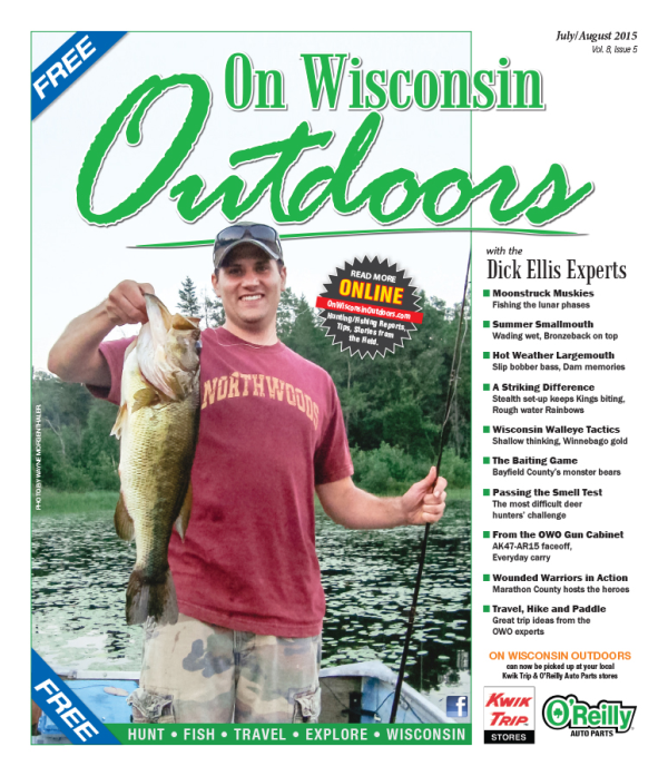 2015 July/August cover On Wisconsin Outdoors