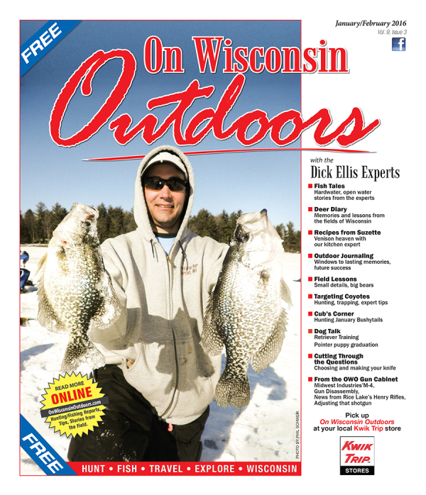 2016 Jan-Feb cover On Wisconsin Outdoors