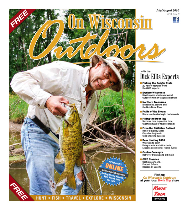 2016 Aug-Jul cover On Wisconsin Outdoors