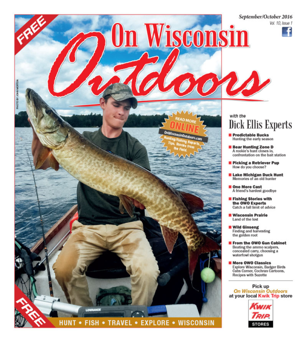 2016 Sep-Oct cover On Wisconsin Outdoors