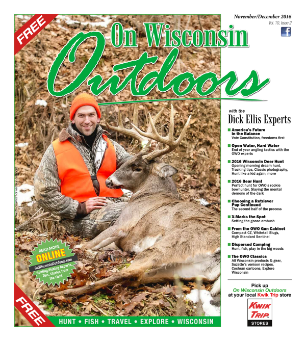2016 Nov-Dec cover On Wisconsin Outdoors