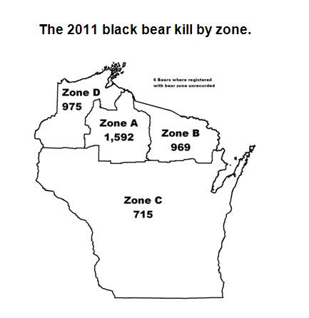 Wisconsin Bear Zones Images