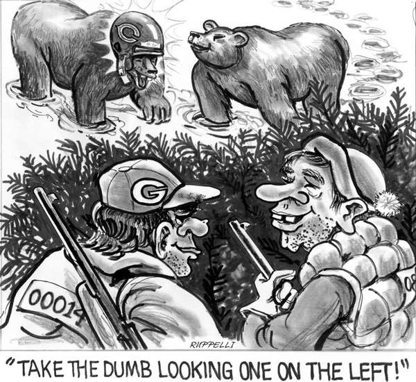 Green Bay Packer-Bears Cartoon by Carl Ruppert & Dick Ellis